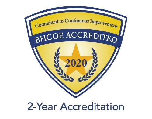 BHCOE 2-year accreditation logo
