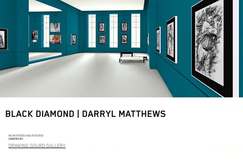 virtual art exhibition featuring the works of artist Darryl Matthews