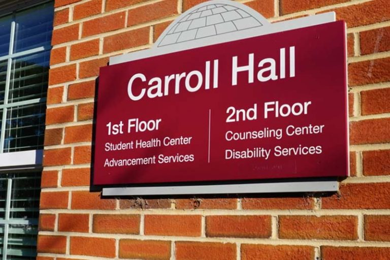 Carroll Hall Sign