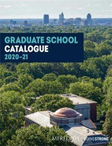 2020-21 Graduate Catalogue Cover